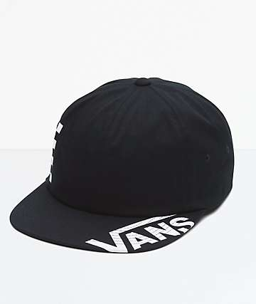 Vans Distort Jockey Black Strapback Hat