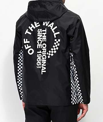 Vans Distorted Off The Wall Black Anorak Jacket