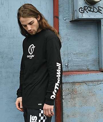 Vans Distorted Performance Black Long Sleeve T-Shirt