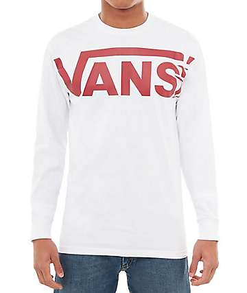 Vans Distorted White Long Sleeve T-Shirt