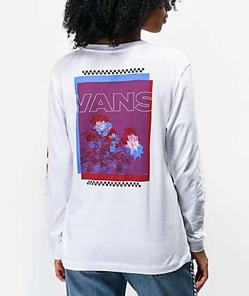 Vans Doubler White Long Sleeve T-Shirt