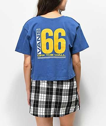 Vans Drop 66 camiseta corta azul