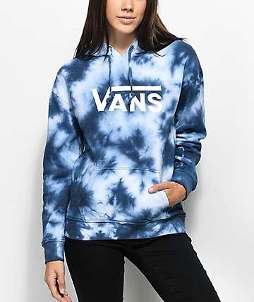 Vans Drop V Blue Tie Dye Hoodie