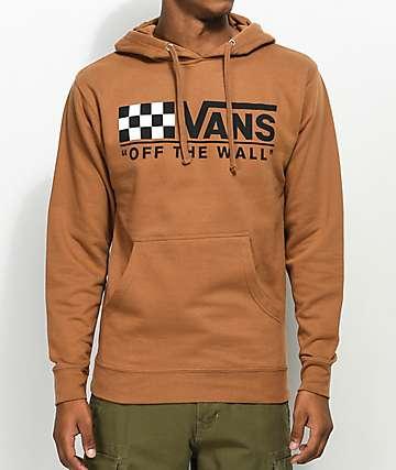 Vans Drop V Checkered Brown Hoodie