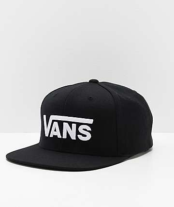 aa91c343be3a46 Vans Drop V II Black   White Snapback Hat