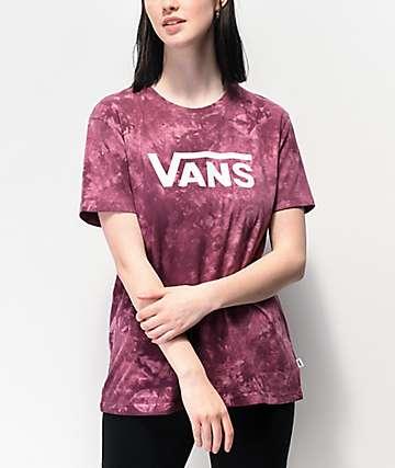 Vans Drop V Prune Tie Dye Boyfriend T-Shirt