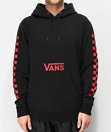 Vans Drop V sudadera con capucha roja y negra