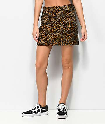 Vans Dusk Leopard Jacquard Mini Skirt