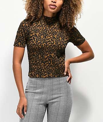 Vans Dusk camisa con estampado de leopardo