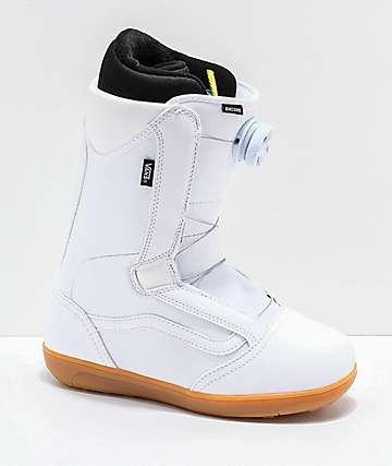 Vans Encore 2019 botas de snowboard en blanco y goma para mujeres