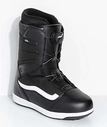 Vans Encore Black Boa Snowboard Boots