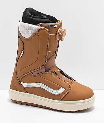 Vans Encore OG 2019 botas de snowboard en marrón y azul para mujeres
