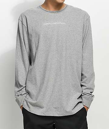 Vans Ensign Heather Grey Long Sleeve Knit T-Shirt