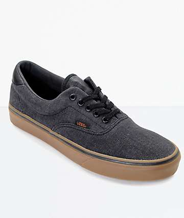 Vans Era 59 CL Black Denim & Gum Skate Shoes