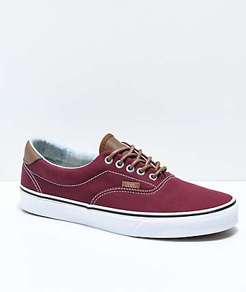 vans canvas old skool red