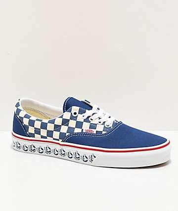 Vans Era BMX Navy & White Checkerboard Skate Shoes