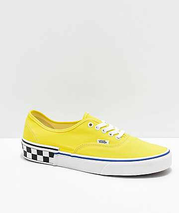 422a266746 Vans Era Blazing Yellow and Checker Block Skate Shoes