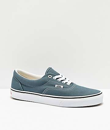 Vans Era Blue Mirage & White Skate Shoes