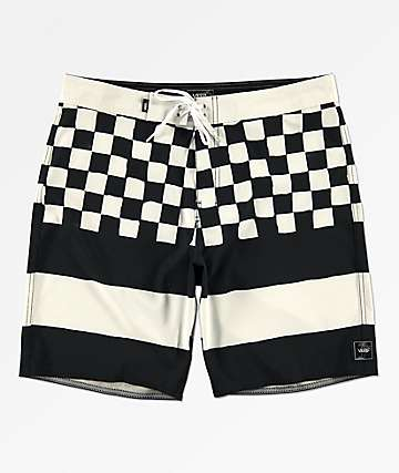 Vans Era Check Black & White Board Shorts