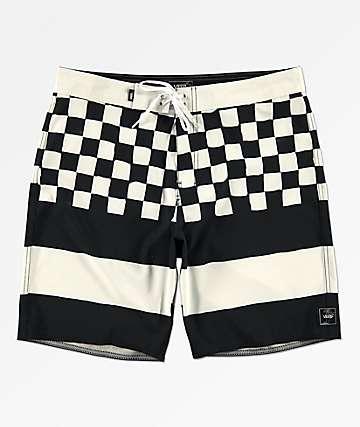 Vans Era Check Black & White Board Shorts