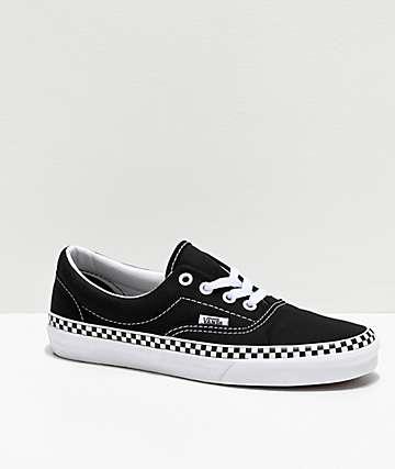 Vans Era Checkerboard Foxing Black Skate Shoes
