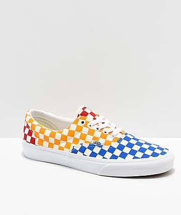 1440a3ae8e Vans Era Checkerboard Red