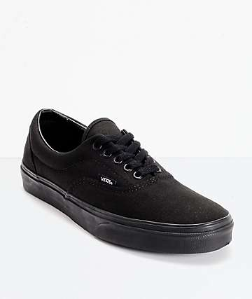 82f4ae58ee Vans Era Classic All Black Skate Shoes