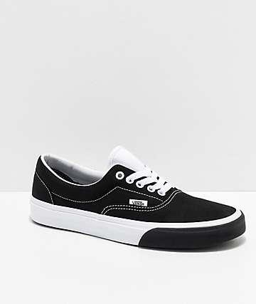 859570e104 Vans Era Color Block Black   White Skate Shoes