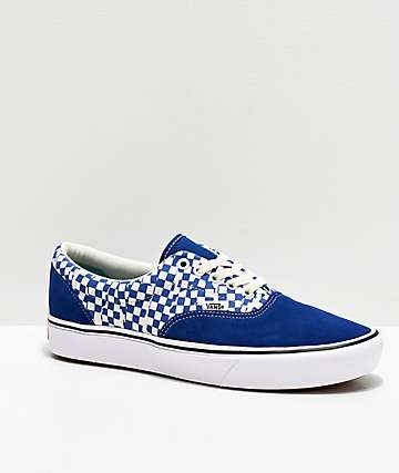 Vans Era ComfyCush Tear Blue & White Skate Shoes