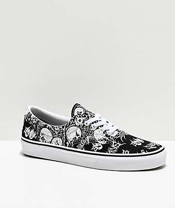 Vans Era Forgotten Bones Black & White Skate Shoes