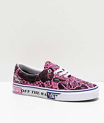 Vans Era Lady Vans Azalea Pink & True White Skate Shoes