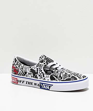 Vans Era Lady Vans White & Black Skate Shoes