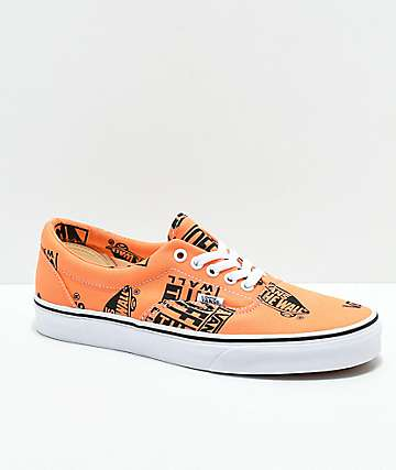 Vans Era Logo Tangerine   Black Skates Shoes 1b7e8d60044
