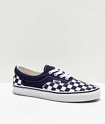 Vans Era Night Sky & White Checkerboard Skate Shoes