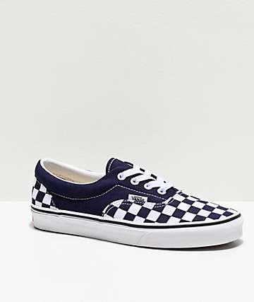 Vans Era Night Sky & White Checkerboard Skate Shoes