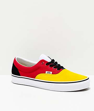 Vans Era Rally Yellow, Red, White & Green Skate Shoes