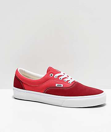 Vans Era Retro Biking Red, Poinsettia & White Skate Shoes