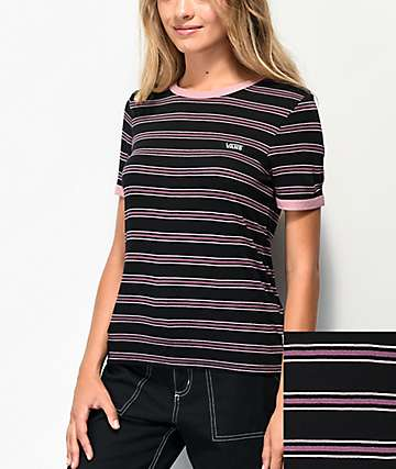 Vans Evermore Black Stripe T-Shirt