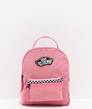 1045a535ecd284 Vans Expedition 2 Pink   Microcheckerboard Mini Backpack