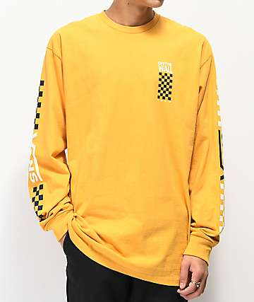 Vans Fastline Yellow Long Sleeve T-Shirt