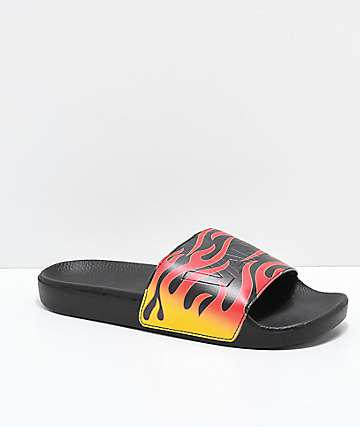 Vans Flame Black Slide Sandals