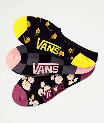 Vans Floral Frenzy Canoodle 3 Pack No Show Socks