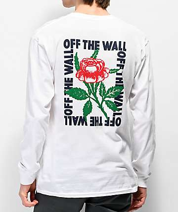 Vans Fluorescent Rose White Long Sleeve T-Shirt