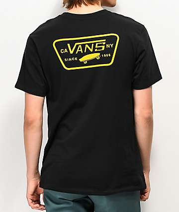 Vans Full Patch Back Black & Yellow T-Shirt