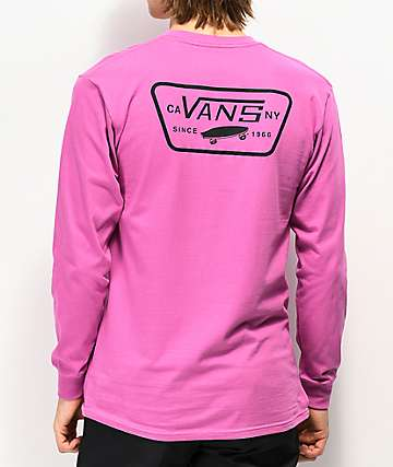 Vans Full Patch Back Rosebud Long Sleeve T-Shirt