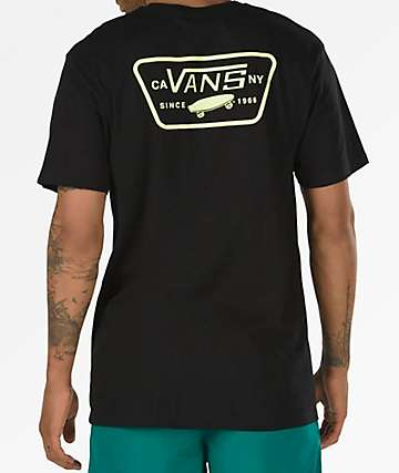 Vans Full Patch Black & Sunny Lime T-Shirt