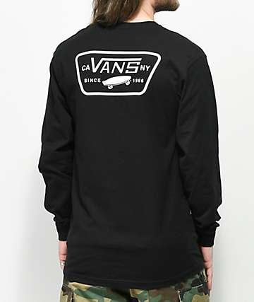Vans Full Patch Black Long Sleeve T-Shirt