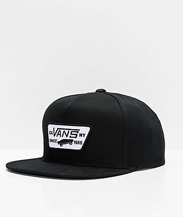 4073c6d49ee44 Vans Full Patch Black Snapback Hat