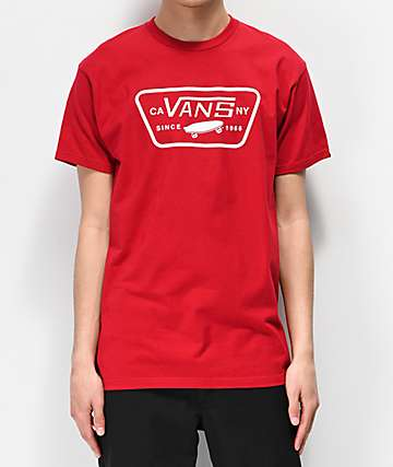 Vans Full Patch Cardinal Red T-Shirt