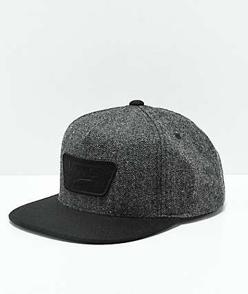 Vans Full Patch Herringbone & Black Snapback Hat